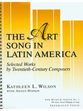 Art Song In Latin America, The