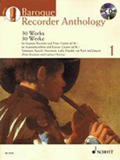 Baroque Recorder Anthology Vol. 1: 30 Works For Sop Rec. And Pno/gtr Book/cd