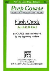 Alfred's Prep Course Flashcards Levels C-F