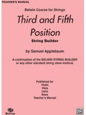 3rd and 5th Position String Builder [Teacher's Manual]