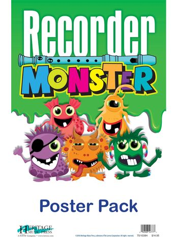 Recorder Monster Poster Pack