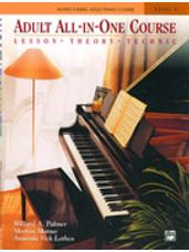 Alfred's Basic Adult All-in-One Piano Lesson-Theory-Technique-Repertoire Book/CD 1
